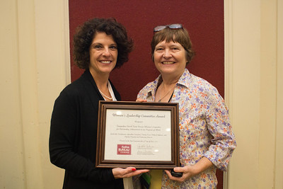 Tangipahoa Parish Farm Bureau was recognized for outstanding achievement in the Women's Leadership Committee program by Louisiana Farm Bureau Women's Leadership Committee State Chair Denise Cannatella. Accepting the certificate is Tangipahoa Parish Farm Bureau Women's Leadership Committee Chair Rosemary Ridgedell.