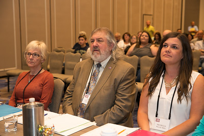 2018 Talk Meet judges are, from left to right, Linda Bendict, Chuck Cannon and Michelle Miller.
