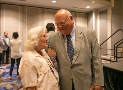 Pictured are former Louisiana Farm Bureau 3rd Vice-President Linda Zaunbrecher and Louisiana Farm Bureau President Ronnie Anderson.