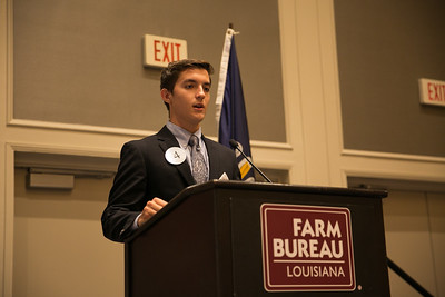 Jacob Martin of Lafayette Parish competes in the 2018 Talk Meet at the 96th Louisiana Farm Bureau Convention in New Orleans.