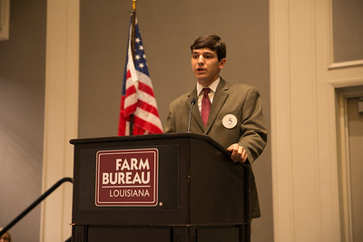 Bret Lee of Vermilion Parish competes in the 2018 Talk Meet at the 96th Louisiana Farm Bureau Convention in New Orleans.