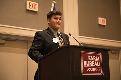 Liam Gordon of Rapides Parish competes in the 2018 Talk Meet at the 96th Louisiana Farm Bureau Convention in New Orleans.