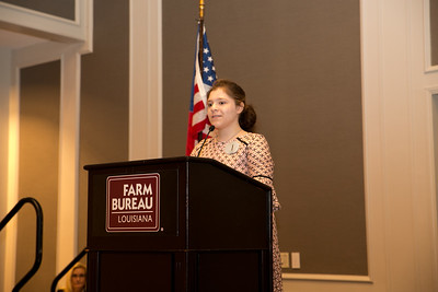 Megan Martinez of Pointe Coupee Parish competes in the 2018 Talk Meet at the 96th Louisiana Farm Bureau Convention in New Orleans.