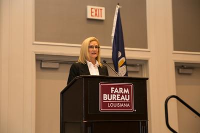 Vermilion Parish Farm Bureau Women's Leadership Committee Parish President Roslyn Simon conducts the 2018 Talk Meet as contest chair.