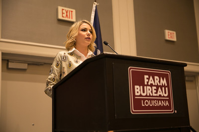 Alizabeth Adam Guillot of Richland Parish competes in the 2018 Talk Meet at the 96th Louisiana Farm Bureau Convention in New Orleans.