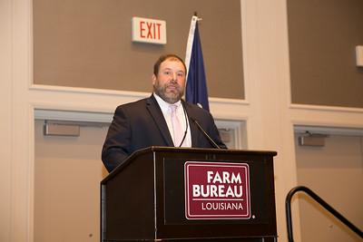 Louisiana Farm Bureau District VIII state board member Ryan Doré calls the 2018 Talk Meet to Order.