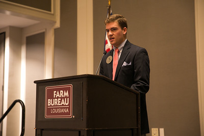 Wesley Adolph of Assumption Parish competes in the 2018 Talk Meet at the 96th Louisiana Farm Bureau Convention in New Orleans.
