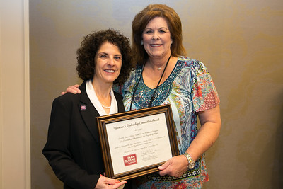 East St. James Farm Bureau Women's Leadership Committee Parish President Belinda Martin receives the certificate for Outstanding Achievement at the 96th Louisiana Farm Bureau Women's Leadership Committee Business Session.