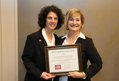 Pointe Coupee Louisiana Farm Bureau Women's Leadership Committee Alternate District VI alternate chair Carla Rivet receives the certificate for Outstanding Achievement for Pointe Coupee Parish at the 96th Louisiana Farm Bureau Women's Leadership Committee Business Session.