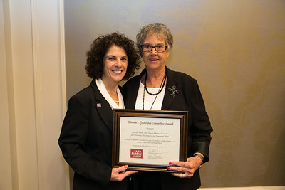 Calcasieu Farm Bureau Women's Leadership Committee Parish President Becky Hensgens receives the certificate for Outstanding Achievement at the 96th Louisiana Farm Bureau Women's Leadership Committee Business Session.