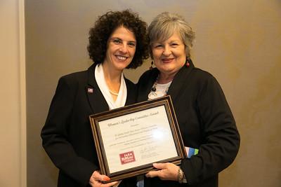 St. Landry Farm Bureau Women's Leadership Committee Parish President Adeline Lafleur receives the certificate for Outstanding Achievement at the 96th Louisiana Farm Bureau Women's Leadership Committee Business Session.