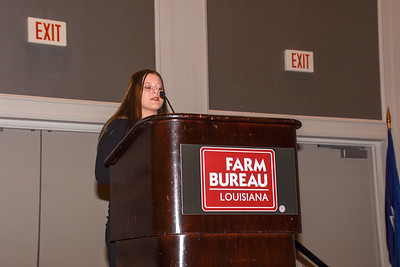 Megan Paige Davidson of St. Landry Parish competes in the 2019 Talk Meet. She talks about how Farm Bureau can help farmers and ranchers provide consumers with accurate information about agriculture.