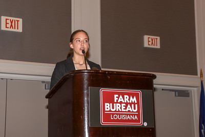 Destiny Alarcon of Vermilion Parish competes in the 2019 Talk Meet. She talks about how Farm Bureau can help farmers and ranchers provide consumers with accurate information about agriculture.