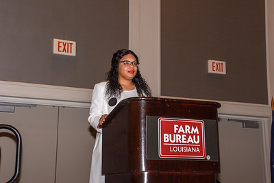 Ja'Mesya Browhow of East Baton Rouge Parish competes in the 2019 Talk Meet. She talks about how Farm Bureau can help farmers and ranchers provide consumers with accurate information about agriculture.