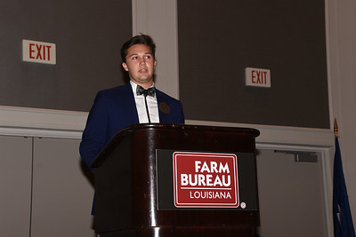 Harrison Cooper of Richland Parish competes in the 2019 Talk Meet. He talks about how Farm Bureau can help farmers and ranchers provide consumers with accurate information about agriculture.