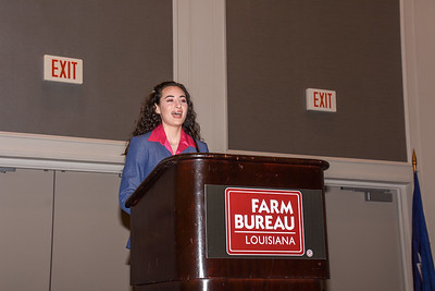 Lea'Rose Bordelon of Avoyelles Parish competes in the 2019 Talk Meet. She talks about how Farm Bureau can help farmers and ranchers provide consumers with accurate information about agriculture.