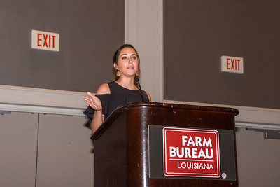 Bailey Nelson of Calcasieu Parish competes in the 2019 Talk Meet. She talks about how Farm Bureau can help farmers and ranchers provide consumers with accurate information about agriculture.