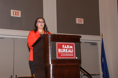 Alana Nicole Abshire of Acadia Parish competes in the 2019 Talk Meet. She talks about how Farm Bureau can help farmers and ranchers provide consumers with accurate information about agriculture.