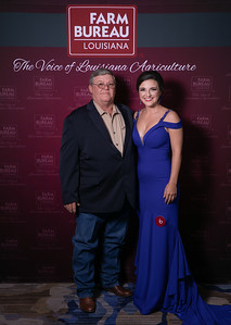 Queens Contest Contestant Maeleigh Beth Conner of Cameron with Cameron Farm Bureau Parish President James Cox.