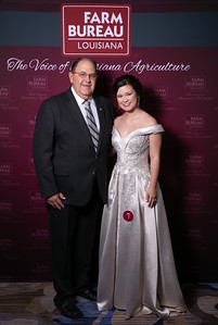 Queens Contest Contestant Shelbi Lynn Guidry of St. Martin with St. Martin Farm Bureau Parish President Mike Melancon.