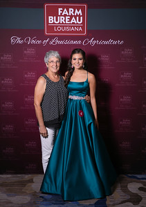 Queen's Contest Contestant Halle Marie Bourdonnay of St. Charles Parish with St. Charles Parish President Joan Robbins.