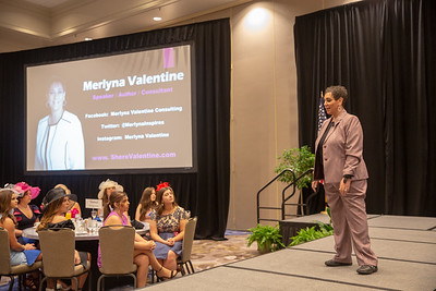 Guest Speaker Merlyna Valentine speaking at the Women's Brunch.