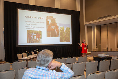 Mariah Simoneaux of Assumption Parish competes in the 2019 Louisiana Farm Bureau Young Farmers and Ranchers contest the 97th Louisiana Farm Bureau Annual Convention in New Orleans.