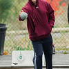 Richard Woodward plays in the inaugural bocce tournament between the Leominster Fire Association and Leominster Police Association on Saturday morning. SENTINEL & ENTERPRISE / Ashley Green