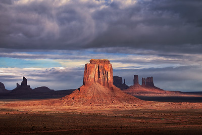 Partly Cloudy Monument - Monument Valley, Utah