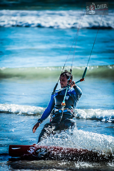 Soldier Kiteboarding