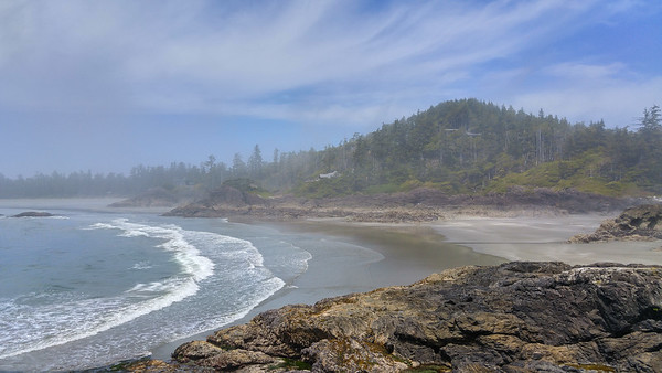 Rosie Bay Beach in the fog - Tofino, Vancouver Island