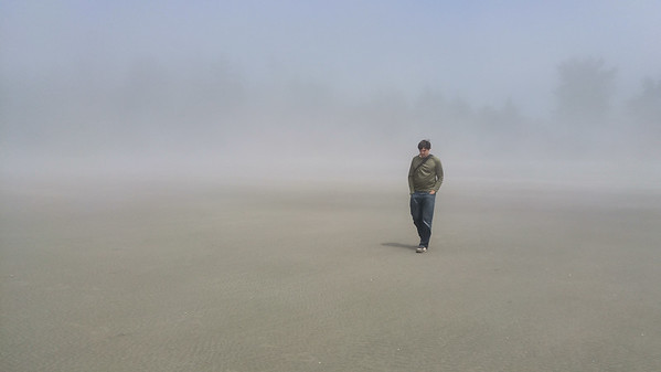 A foggy beach in Tofino, BC   Photos from Vancouver Island