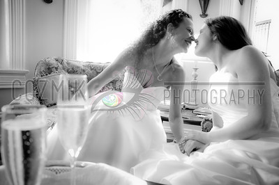 Vicki & Shian, August 2012 - DC, Swann House Champagne kisses