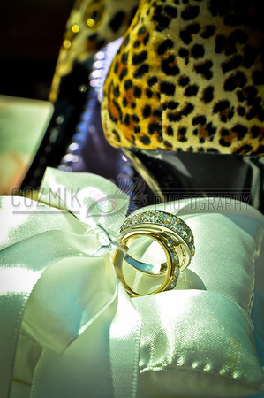 Vicki & Shian, August 2012 - DC, Swann House Patent leather, leopard fur, silk, platinum and diamonds