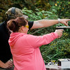 Tara Rivers, of Leominster, takes part in a gun safety course for members of the LGBTQ community at the Leominster Sportsmen's Association on Saturday afternoon. SENTINEL & ENTERPRISE / Ashley Green