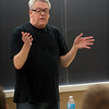 "West Lafayette native Cleve Jones presented ""Stitching a Revolution: Cleve Jones and the AIDS Memorial Quilt"" in the Purdue Memorial Union Ballroom. The lecture, was coordinated by Purdue's LGBTQ Center. Cleve also spoke to a gender studies class beforehand. (Purdue University/ Mark Simons)"