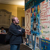 The Purdue LGBTQ Center, AIDS quilt display during AIDS/HIV awareness week. Friday closing ceremony with dedication of a panel honoring the memory of Paul Beguiristain.  (Mark Simons / Purdue University)