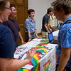 LGBTQ and Ally Callout and Resource Fair, sponsored by the Purdue LGBTQ Center, director Lowell Kane.  (Mark Simons/ Purdue University)