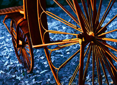 """""""Spokes"""" (bicycle plant stand) - earned a """"Silver"""" (9)"""