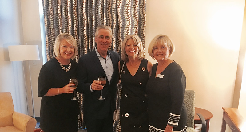 From left, Molly Bennett of Chelmsford, celebrity guest Billy Costa, and LGH Auxiliary's Deborah Lemos and Mary Bennet, both of Chelmsford