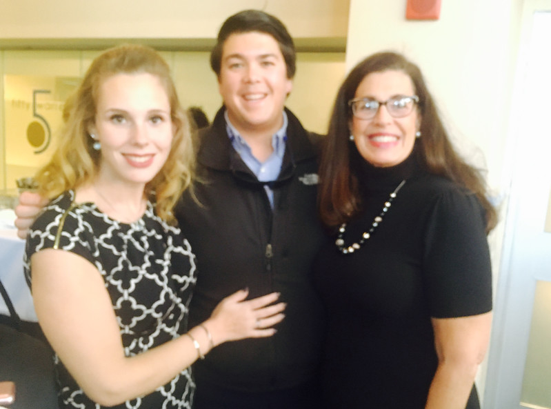 From left, Victoria Hogan, Marc Gillette and Laurie Hogan, all of Pelham