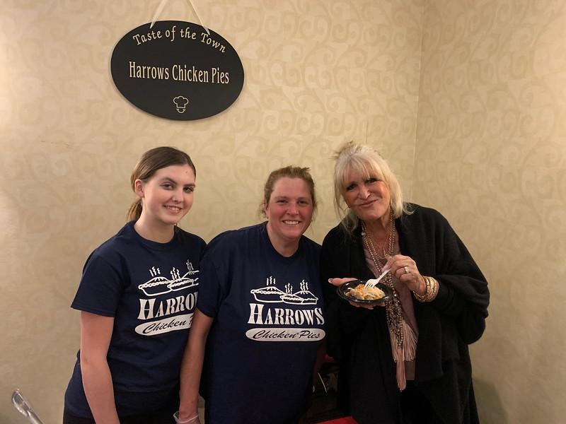 Susan Wornick enjoys a chicken pie from Harrows of?Tewksbury.