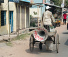 "A sound ""truck"", a rickshaw with a sound system powered by a car battery."