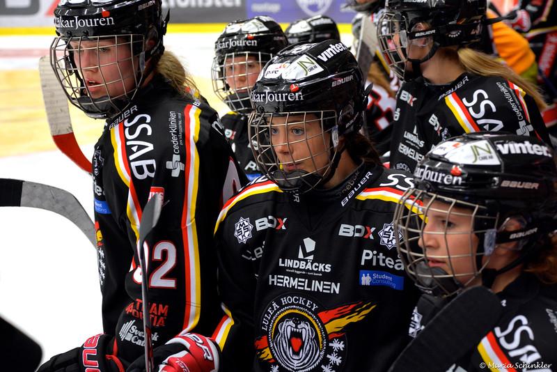 #10 Christa Alanko #13 Linn Malander #92 Melinda Olsson
