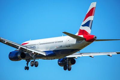 British Airways Airbus A319-131 G-EUOF 7-2-17