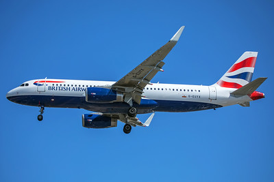 British Airways Airbus A320-232 G-EUYX 7-2-17