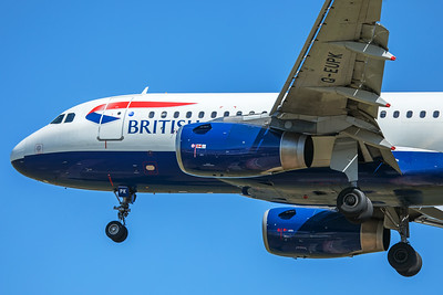 British Airways Airbus A319-131 G-EUPK 7-2-17