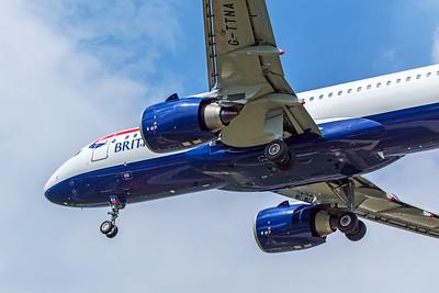 British Airways Airbus A320-251N G-TTNA 5-8-18 2