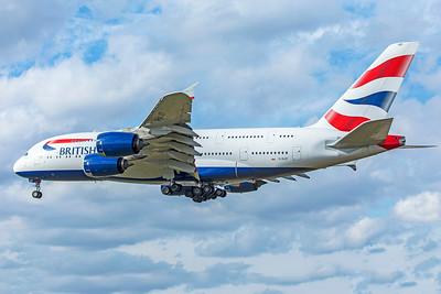 British Airways Airbus A380-841 G-XLEF 9-9-18