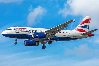 British Airways Airbus A319-131 G-EUOG 9-9-18